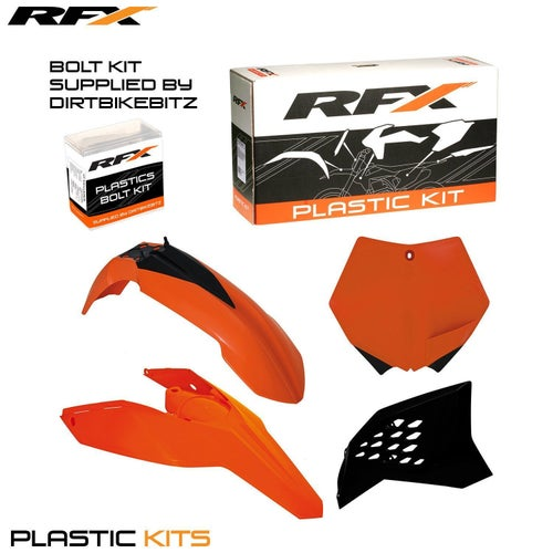 RFX Plastic Kit KTM OEM EXC F 125530 08 Plastic Kit - 11 (4 Pc Kit)