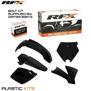 RFX Plastic Kit KTM Black SX250 01 Plastic Kit - 02 EXC Models 03 (5 Pc Kit)