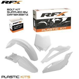 RFX Plastic Kit Husqvarna White OEM TE250 10 Plastic Kit - 13 (5 Pc Kit)