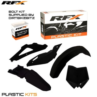 RFX Plastic Kit Husqvarna Black TE250 10 Plastic Kit - 13 (5 Pc Kit)