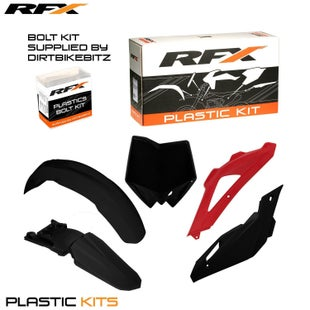 RFX Plastic Kit Husqvarna Black TE250 08 Plastic Kit - 09 (5 Pc Kit)