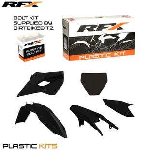 RFX Plastic Kit Husqvarna Black TC250 14 Plastic Kit - 16 (5 Pc Kit)