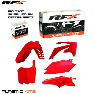 RFX Plastic Kit Honda Red CRF250 11 Plastic Kit - 13 (5 Pc Kit)