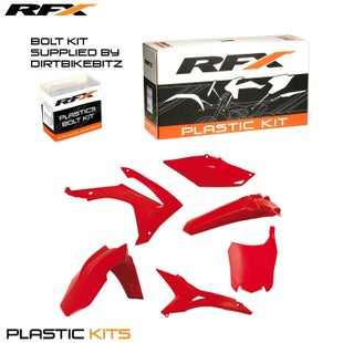 RFX Plastic Kit Honda Red CRF250 14 Plastic Kit - 16 (6 Pc Kit) *USA Version*