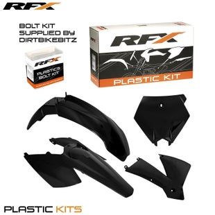 RFX Plastic Kit KTM Black SX F 250 Plastic Kit - 450 03 (4 Pc Kit)