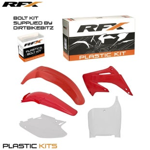 RFX Plastic Kit Honda OEM CR125250 02 Plastic Kit - 03 (5 Pc Kit)