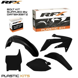 RFX Plastic Kit Honda Black CRF250 04 Plastic Kit - 05 (5 Pc Kit)