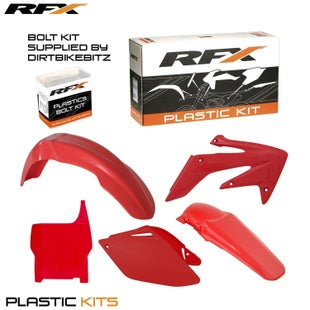 RFX Plastic Kit Honda Red CRF250 06 Plastic Kit - 07 (5 Pc Kit)