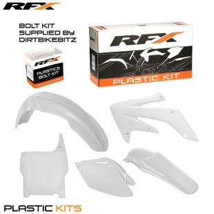RFX Plastic Kit Honda White CRF250 06 Plastic Kit - 07 (5 Pc Kit)