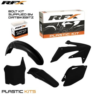 RFX Plastic Kit Honda Black CRF250 08 Plastic Kit - 09 (5 Pc Kit)