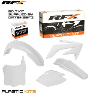 RFX Plastic Kit Honda White CRF250 08 Plastic Kit - 09 (5 Pc Kit)