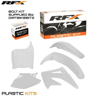 RFX Plastic Kit Honda White CRF450 02 Plastic Kit - 03 (5 Pc Kit)