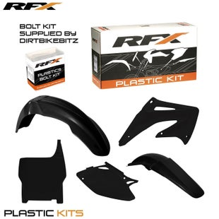 RFX Plastic Kit Honda Black CRF450 04 5 Pc Kit Plastic Kit - lastic Kit Honda (Black) CRF450 04 (5 Pc Kit)