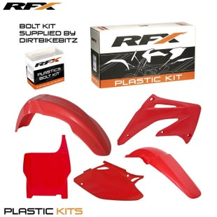 RFX Plastic Kit Honda Red CRF450 04 5 Pc Kit Plastic Kit - lastic Kit Honda (Red) CRF450 04 (5 Pc Kit)