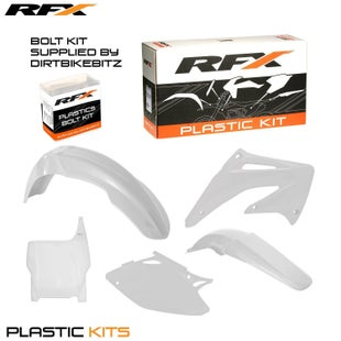 RFX Plastic Kit Honda White CRF450 04 5 Pc Kit Plastic Kit - lastic Kit Honda (White) CRF450 04 (5 Pc Kit)