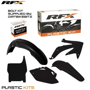 RFX Plastic Kit Honda Black CRF450 05 Plastic Kit - 06 (5 Pc Kit)