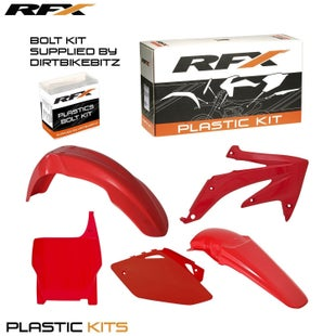 RFX Plastic Kit Honda Red CRF450 05 Plastic Kit - 06 (5 Pc Kit)