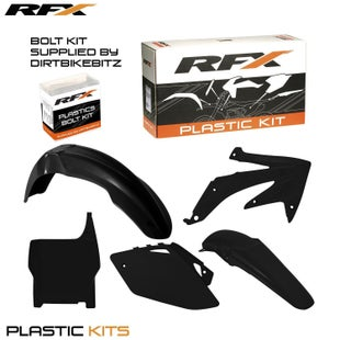 RFX Plastic Kit Honda Black CRF450 2007 5 Pc Kit Plastic Kit - lastic Kit Honda (Black) CRF450 2007 (5 Pc Kit)