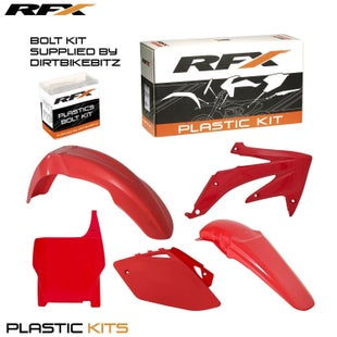 RFX Plastic Kit Honda Red CRF450 2007 5 Pc Kit Plastic Kit - lastic Kit Honda (Red) CRF450 2007 (5 Pc Kit)