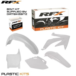 RFX Plastic Kit Honda White CRF450 2007 5 Pc Kit Plastic Kit - lastic Kit Honda (White) CRF450 2007 (5 Pc Kit)