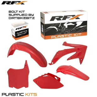 RFX Plastic Kit Honda Red CRF450 2008 5 Pc Kit Plastic Kit - lastic Kit Honda (Red) CRF450 2008 (5 Pc Kit)