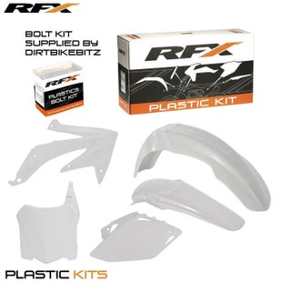 RFX Plastic Kit Honda White CRF450 2008 5 Pc Kit Plastic Kit - lastic Kit Honda (White) CRF450 2008 (5 Pc Kit)