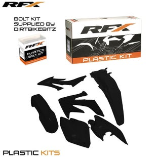 RFX Plastic Kit Honda Black C 250 04 Plastic Kit - 16 (4 Pc Kit)