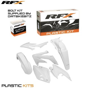 RFX Plastic Kit Honda White C 250 04 Plastic Kit - 16 (4 Pc Kit)