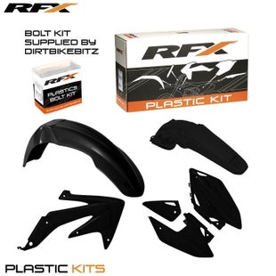 RFX Plastic Kit Honda Black C 450 05 Plastic Kit - 07 (4 Pc Kit)