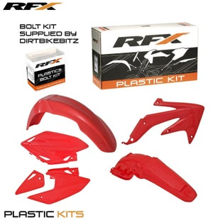 RFX Plastic Kit Honda Red C 450 05 Plastic Kit - 07 (4 Pc Kit)