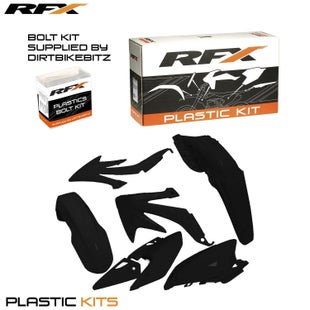 RFX Plastic Kit Honda Black C 450 08 Plastic Kit - 16 (4 Pc Kit)
