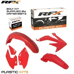 RFX Plastic Kit Honda Red C 450 08 Plastic Kit - 16 (4 Pc Kit)