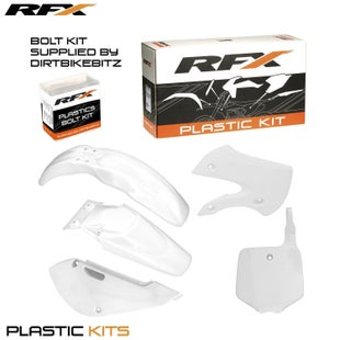 RFX Plastic Kit Kawasaki White KX65 01 Plastic Kit - 16 (5 Pc Kit)