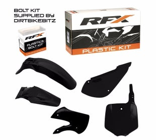 RFX Plastic Kit Kawasaki Black KLX110 02 Plastic Kit - 09 (5 Pc Kit)