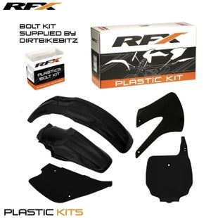 RFX Plastic Kit Kawasaki Black KX85100 98 Plastic Kit - 13 (5 Pc Kit)