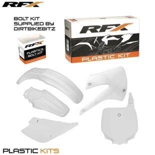RFX Plastic Kit Kawasaki White KX85100 98 Plastic Kit - 13 (5 Pc Kit)