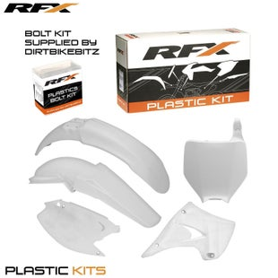 RFX Plastic Kit Kawasaki White KX125250 03 Plastic Kit - 08 (5 Pc Kit)