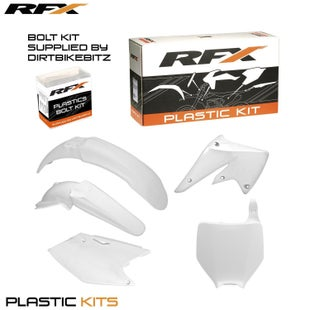 RFX Plastic Kit Kawasaki White KXF250 04 Plastic Kit - 05 (5 Pc Kit)