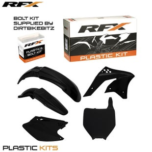 RFX Plastic Kit Kawasaki Black KXF250 06 Plastic Kit - 08 (5 Pc Kit)