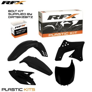 RFX Plastic Kit Kawasaki Black KXF250 09 Plastic Kit - 12 (5 Pc Kit)
