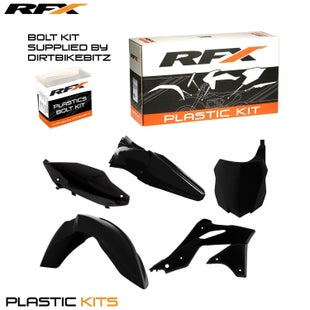 RFX Plastic Kit Kawasaki Black KXF250 13 Plastic Kit - 16 (5 Pc Kit)