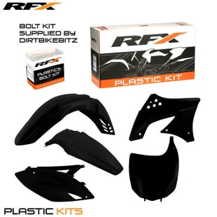 RFX Plastic Kit Kawasaki Black KXF450 09 Plastic Kit - 11 (5 Pc Kit)