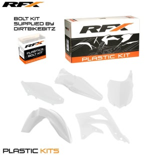 RFX Plastic Kit Kawasaki White KXF450 13 Plastic Kit - 15 (5 Pc Kit)