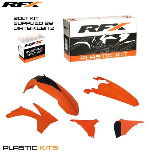 RFX Plastic Kit KTM OEM EXC F125500 12 Plastic Kit - 13 (5 Pc Kit) w Airbox Covers
