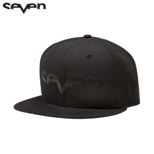 Seven Casual New Era Cap - Brand Punched Black Black