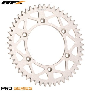 RFX Pro Series Elite Rear Sprocket Kawasaki KX125250 KXF250450 82 Rear Sprocket - Silver