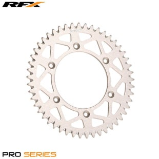 RFX Pro Series Elite Rear Sprocket Kawasaki KX65 0017 Rear Sprocket - Silver