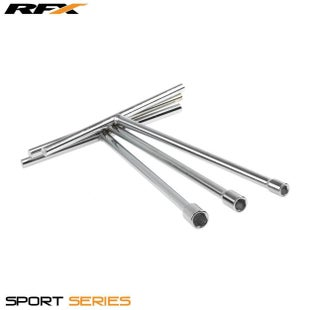 RFX Sport Steel TBar Long Reach 10mm Hand Tool - Silver