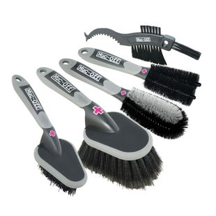 Cleaning Products Muc Off 5 Premium Brush Kit - Grey