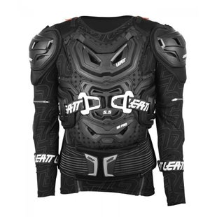 Leatt 55 Body Protection MX Motocross and Enduro Jacket Torso Protection - Black